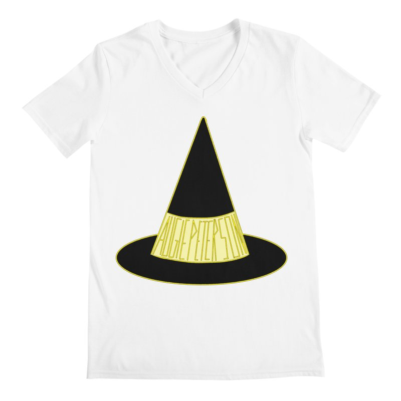 Augie Peterson Witch Hat Men's Regular V-Neck by Augie's Attic