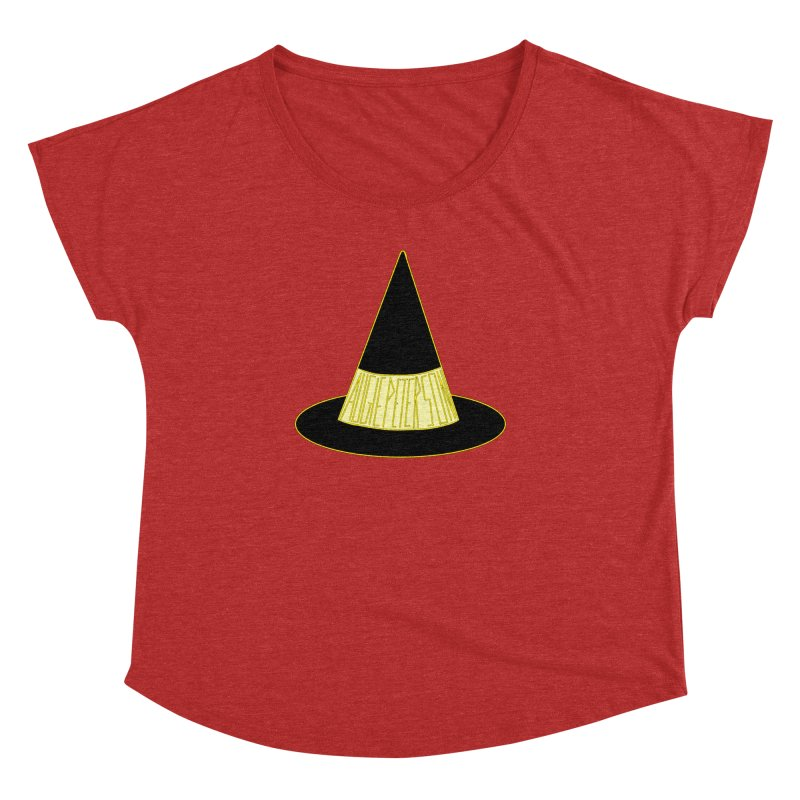 Augie Peterson Witch Hat Women's Dolman Scoop Neck by Augie's Attic
