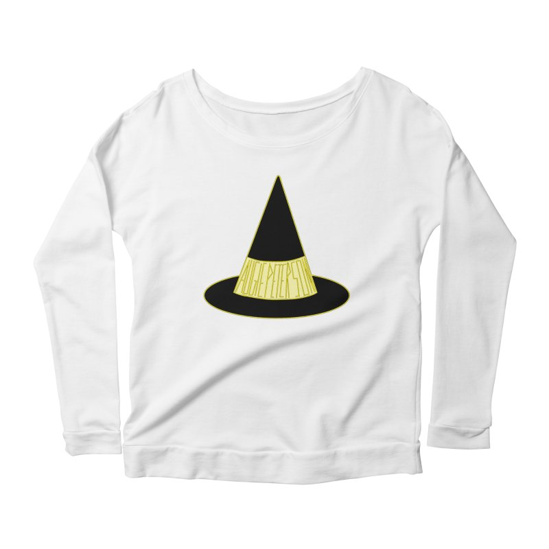 Augie Peterson Witch Hat Women's Scoop Neck Longsleeve T-Shirt by Augie's Attic