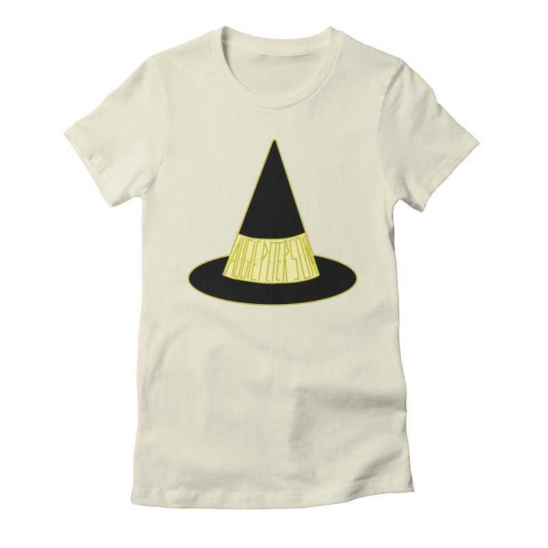 Augie Peterson Witch Hat Women's Fitted T-Shirt by Augie's Attic