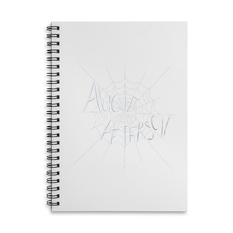 Augie Peterson Spiderweb Accessories Lined Spiral Notebook by Augie's Attic