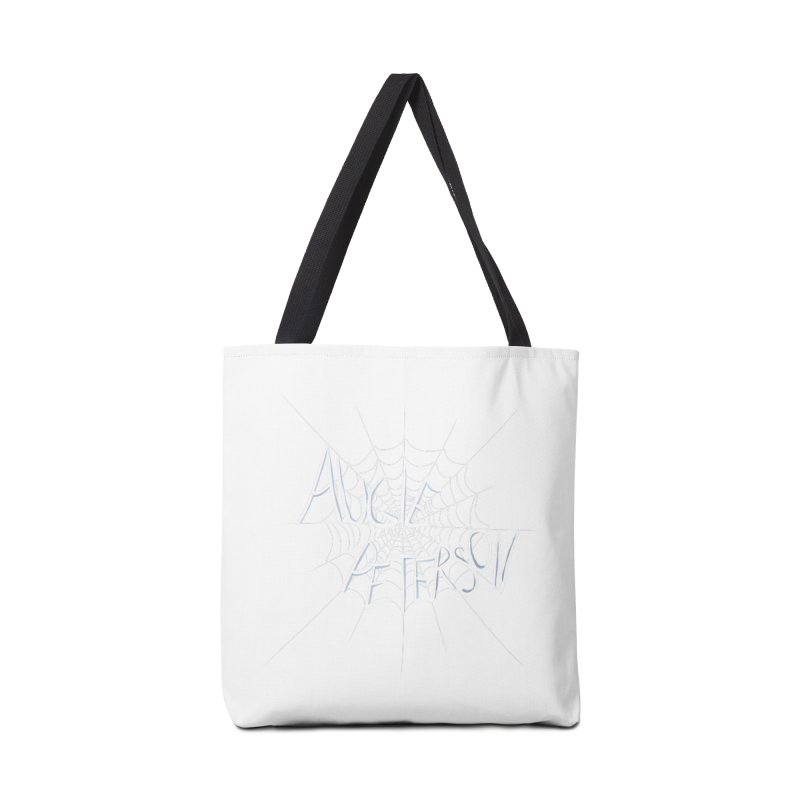 Augie Peterson Spiderweb Accessories Tote Bag Bag by Augie's Attic