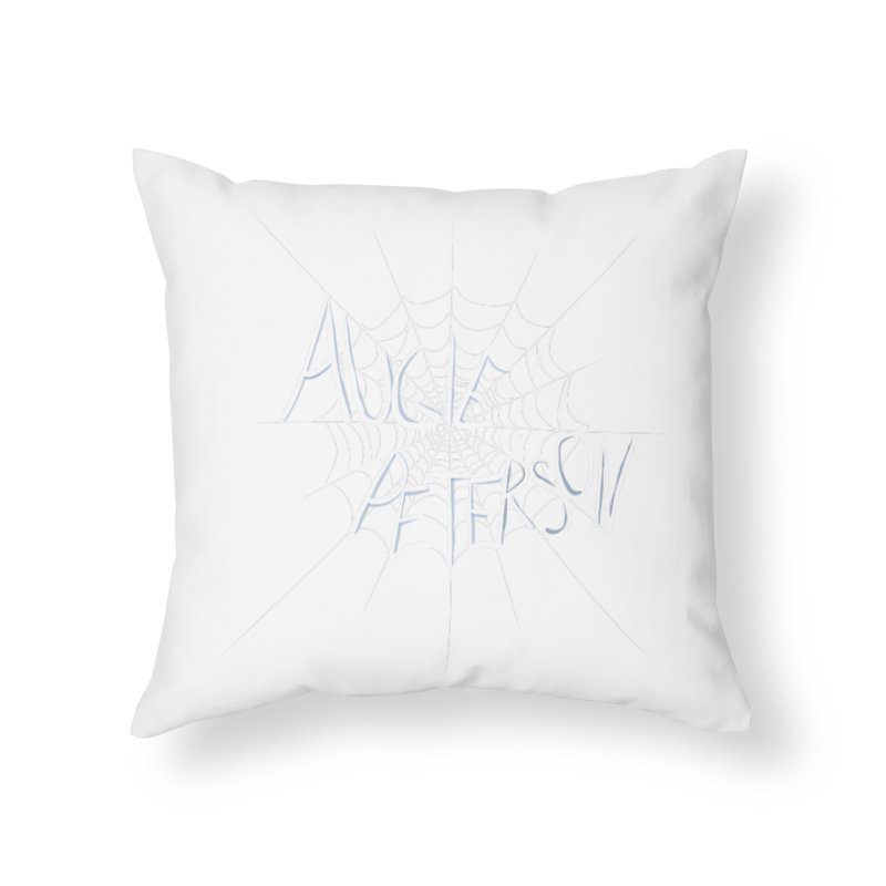 Augie Peterson Spiderweb Home Throw Pillow by Augie's Attic