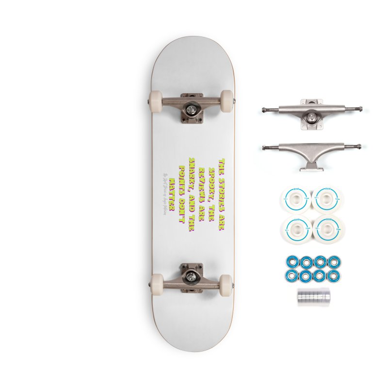 SSAPP Podcast Catchphrase (dark colors) Accessories Complete - Basic Skateboard by Augie's Attic