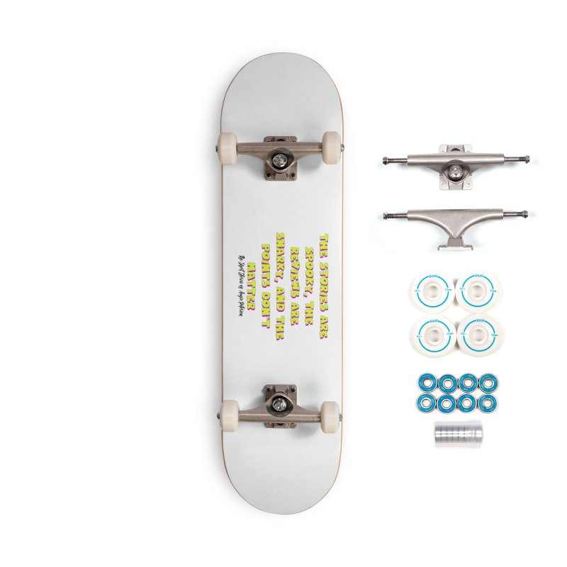 SSAPP Podcast Catchphrase (light colors) Accessories Complete - Basic Skateboard by Augie's Attic