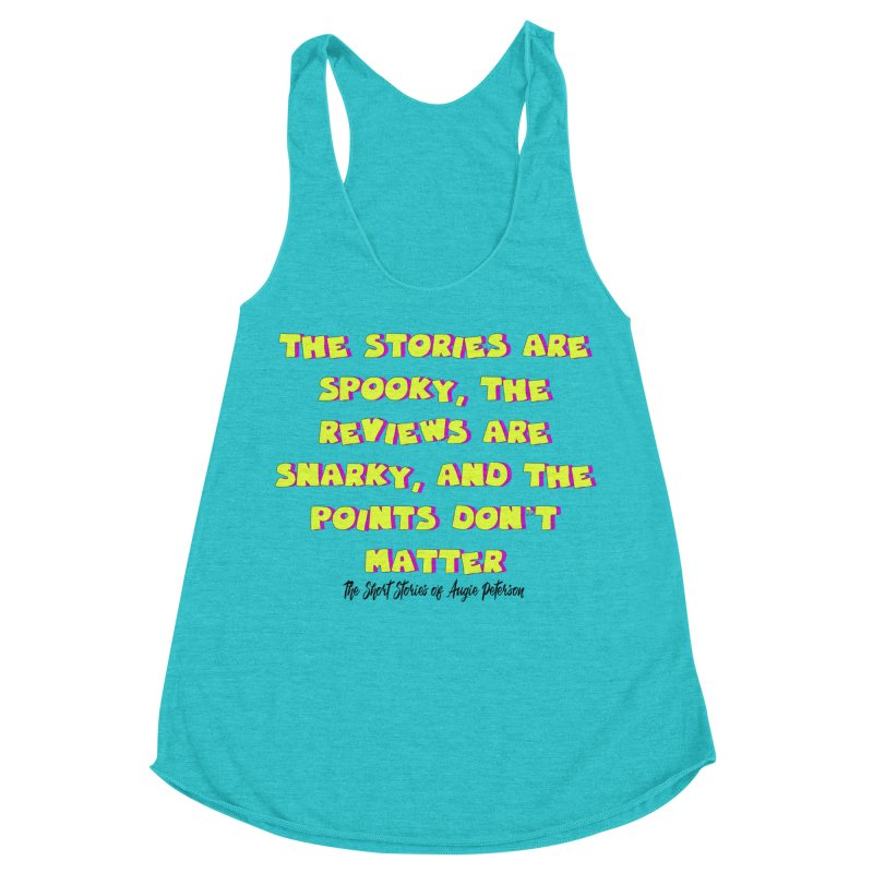 SSAPP Podcast Catchphrase (light colors) Women's Racerback Triblend Tank by Augie's Attic
