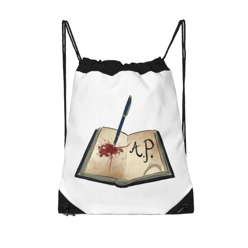 Augie Peterson Logo (Designed by The Unapologetic Artist) Accessories Drawstring Bag Bag by Augie's Attic