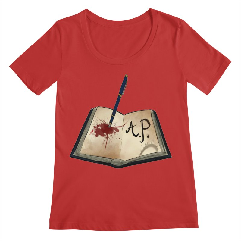 Augie Peterson Logo (Designed by The Unapologetic Artist) Women's Regular Scoop Neck by Augie's Attic