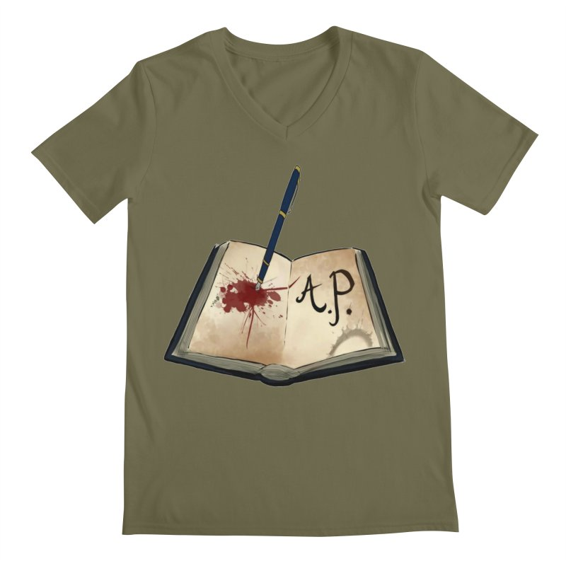 Augie Peterson Logo (Designed by The Unapologetic Artist) Men's Regular V-Neck by Augie's Attic