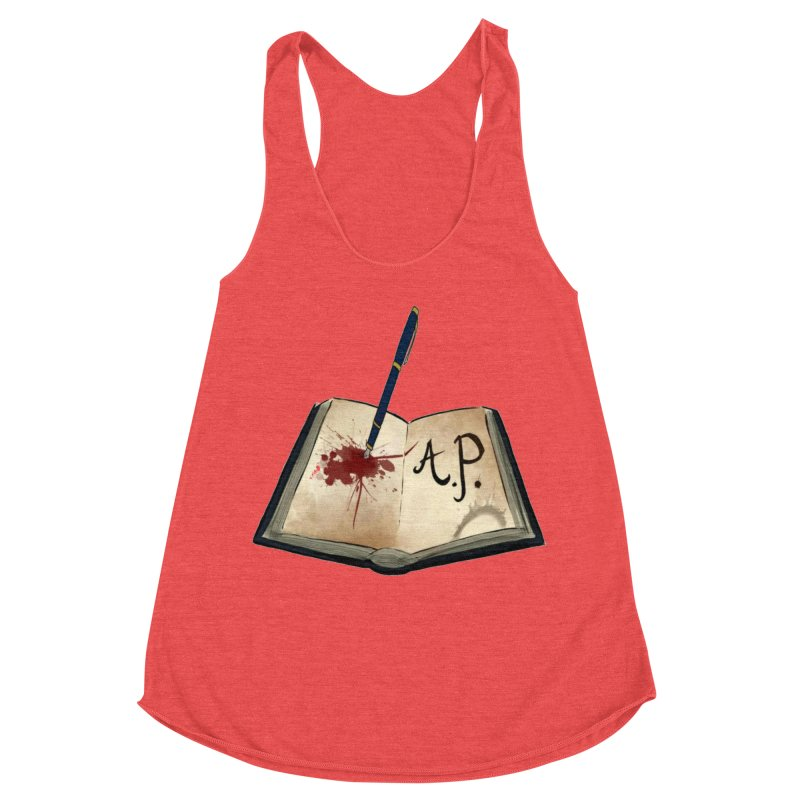 Augie Peterson Logo (Designed by The Unapologetic Artist) Women's Racerback Triblend Tank by Augie's Attic