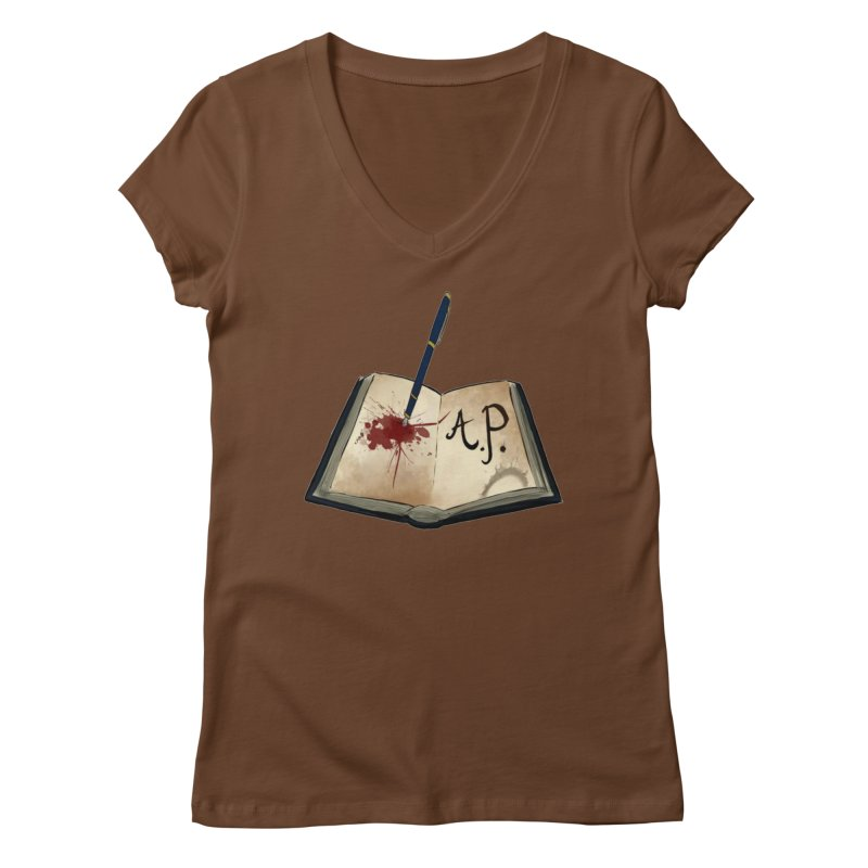 Augie Peterson Logo (Designed by The Unapologetic Artist) Women's Regular V-Neck by Augie's Attic