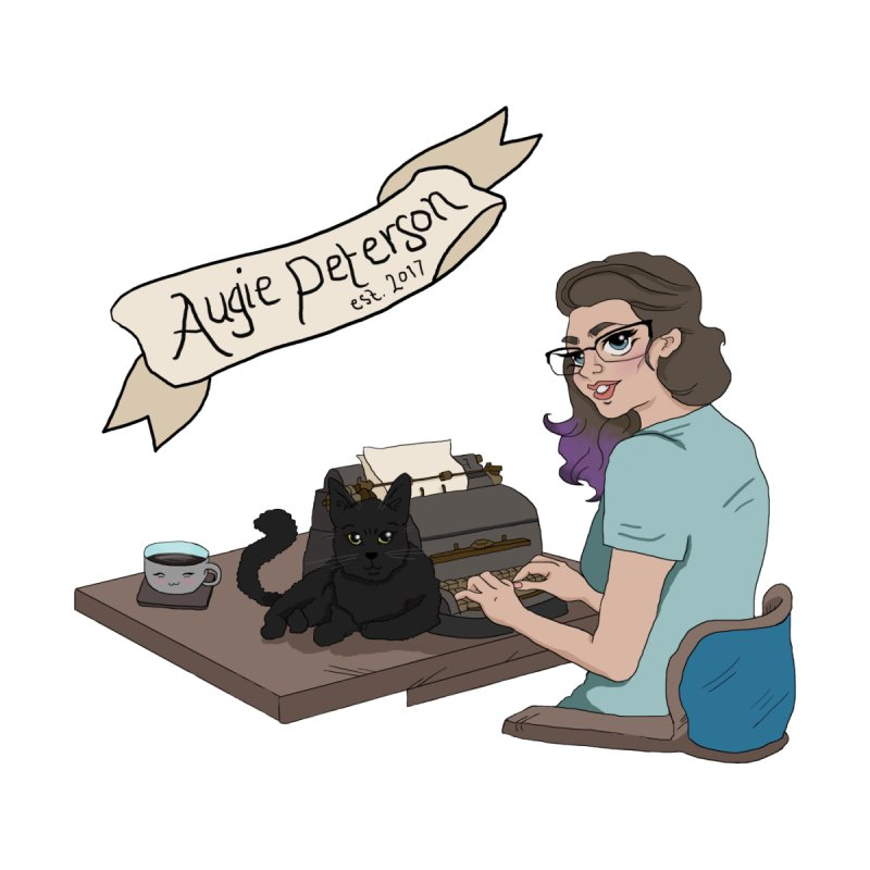 Augie at Her Desk (Designed by Lenedoesnotpop) by Augie's Attic