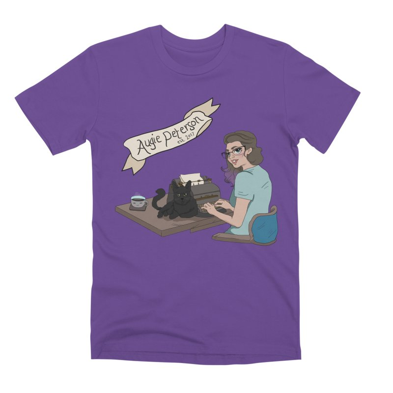 Augie at Her Desk (Designed by Lenedoesnotpop) Men's Premium T-Shirt by Augie's Attic