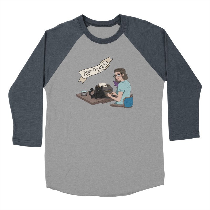 Augie at Her Desk (Designed by Lenedoesnotpop) Men's Baseball Triblend Longsleeve T-Shirt by Augie's Attic