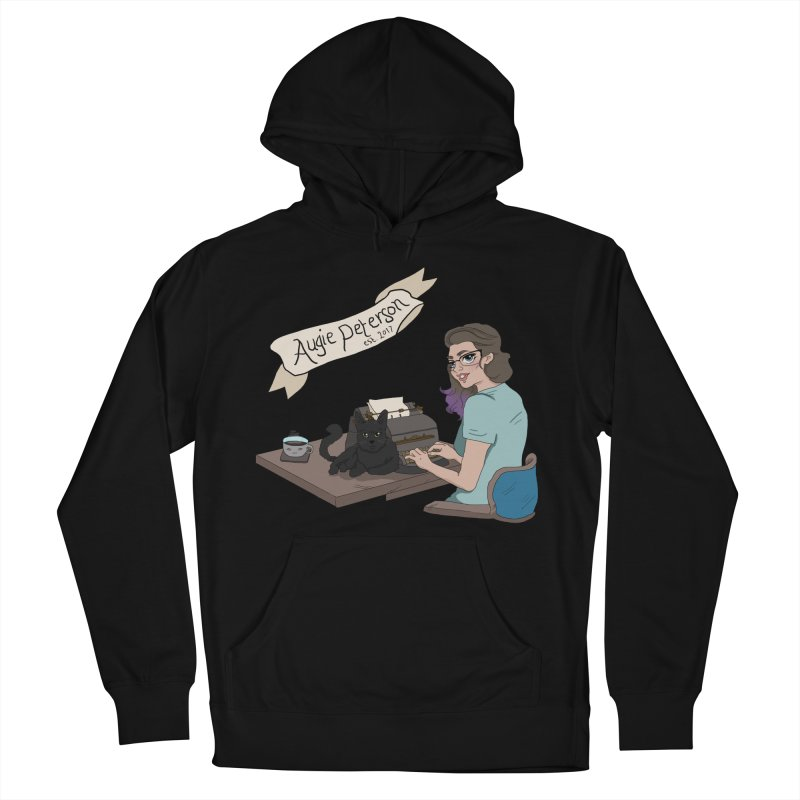 Augie at Her Desk (Designed by Lenedoesnotpop) Women's French Terry Pullover Hoody by Augie's Attic