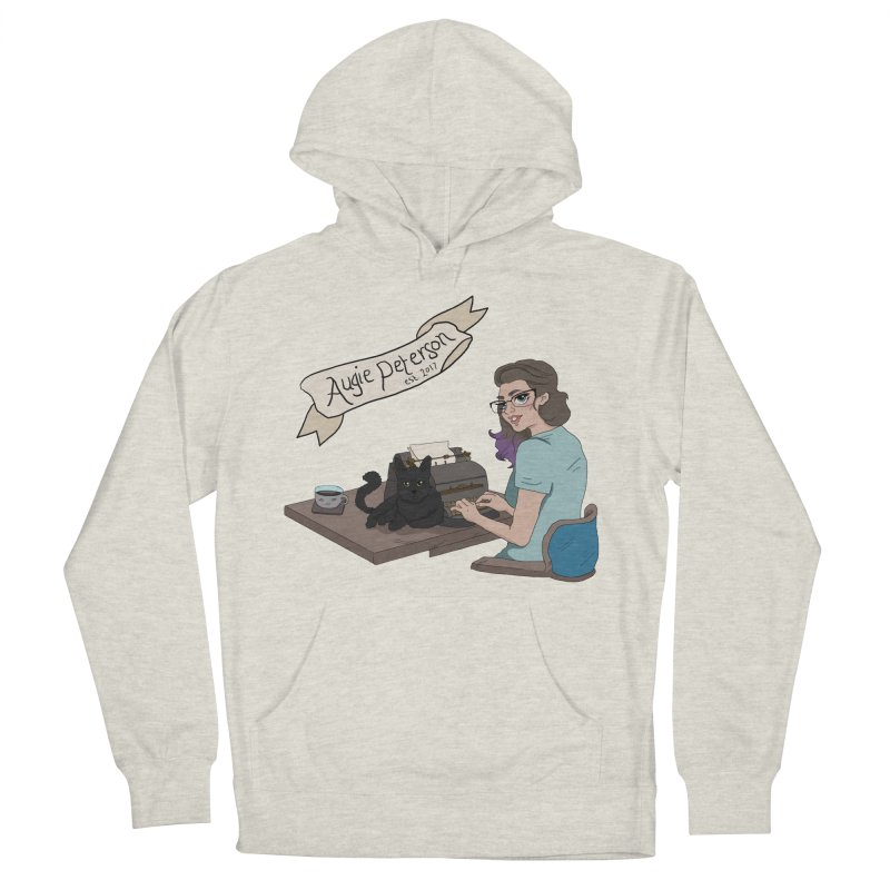 Augie at Her Desk (Designed by Lenedoesnotpop) Men's French Terry Pullover Hoody by Augie's Attic
