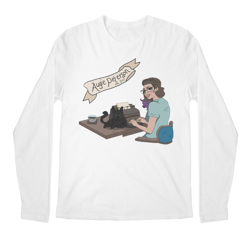 Augie at Her Desk (Designed by Lenedoesnotpop) Men's Regular Longsleeve T-Shirt by Augie's Attic