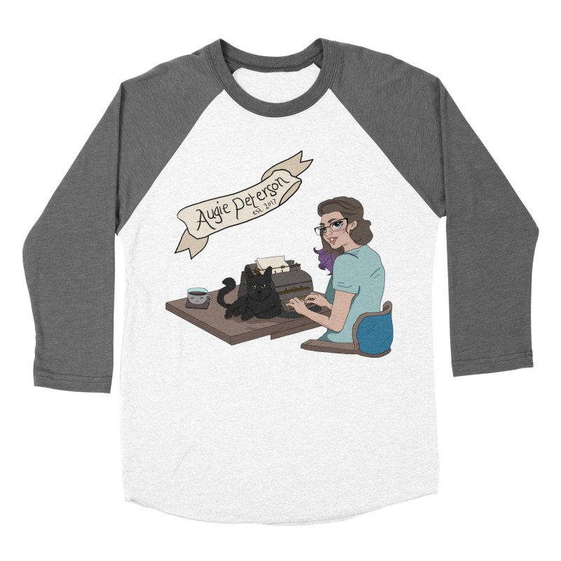 Augie at Her Desk (Designed by Lenedoesnotpop) Women's Baseball Triblend Longsleeve T-Shirt by Augie's Attic