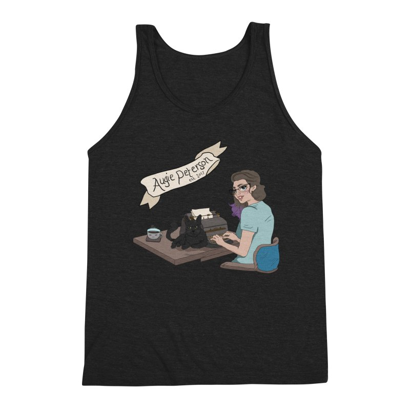 Augie at Her Desk (Designed by Lenedoesnotpop) Men's Triblend Tank by Augie's Attic