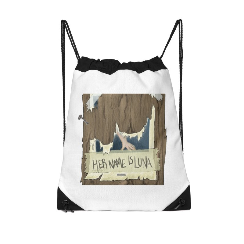 Her Name is Luna (Designed by The Unapologetic Artist) Accessories Drawstring Bag Bag by Augie's Attic