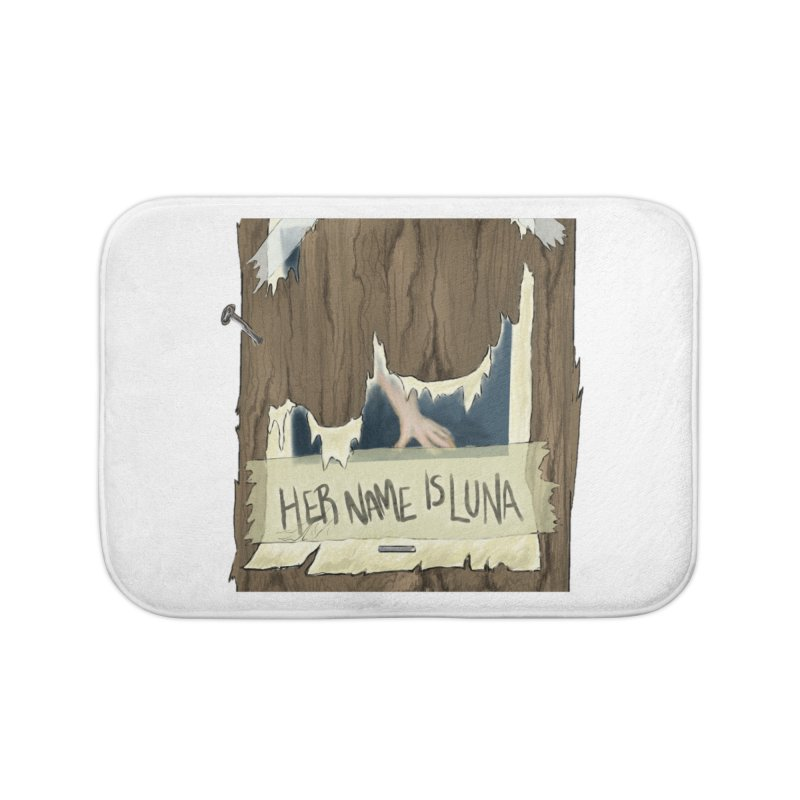 Her Name is Luna (Designed by The Unapologetic Artist) Home Bath Mat by Augie's Attic
