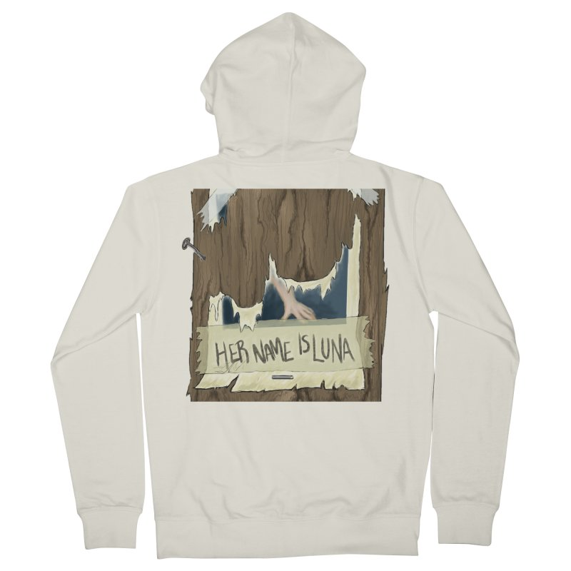 Her Name is Luna (Designed by The Unapologetic Artist) Men's French Terry Zip-Up Hoody by Augie's Attic