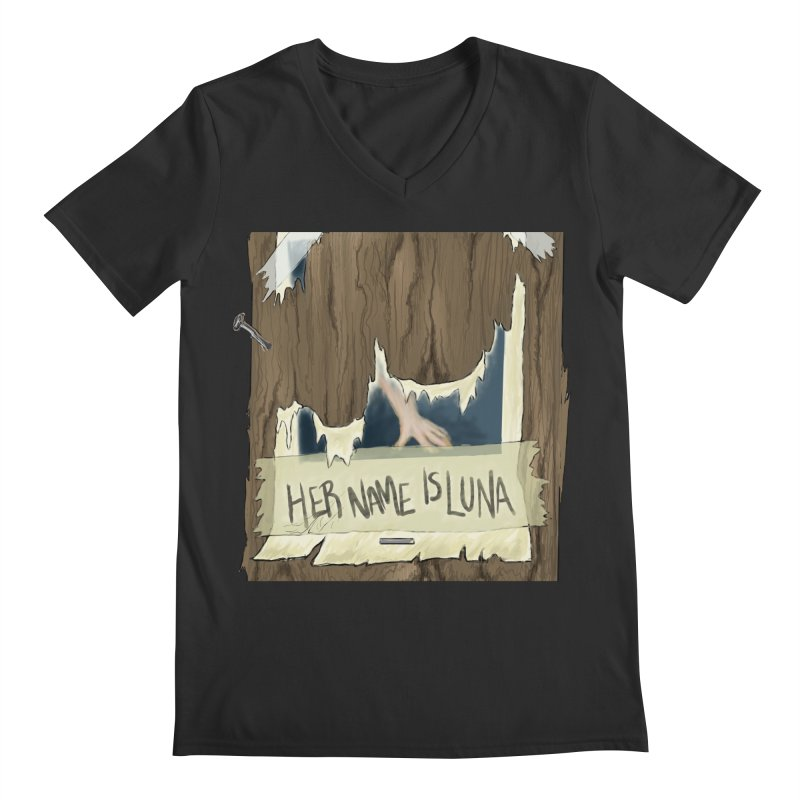 Her Name is Luna (Designed by The Unapologetic Artist) Men's Regular V-Neck by Augie's Attic