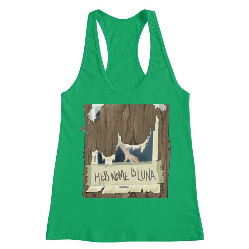 Her Name is Luna (Designed by The Unapologetic Artist) Women's Racerback Tank by Augie's Attic