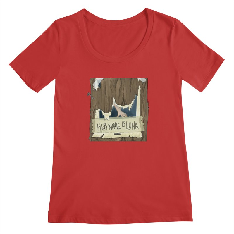 Her Name is Luna (Designed by The Unapologetic Artist) Women's Regular Scoop Neck by Augie's Attic