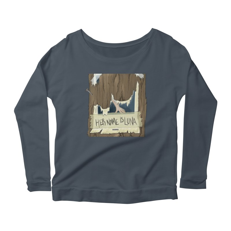 Her Name is Luna (Designed by The Unapologetic Artist) Women's Scoop Neck Longsleeve T-Shirt by Augie's Attic