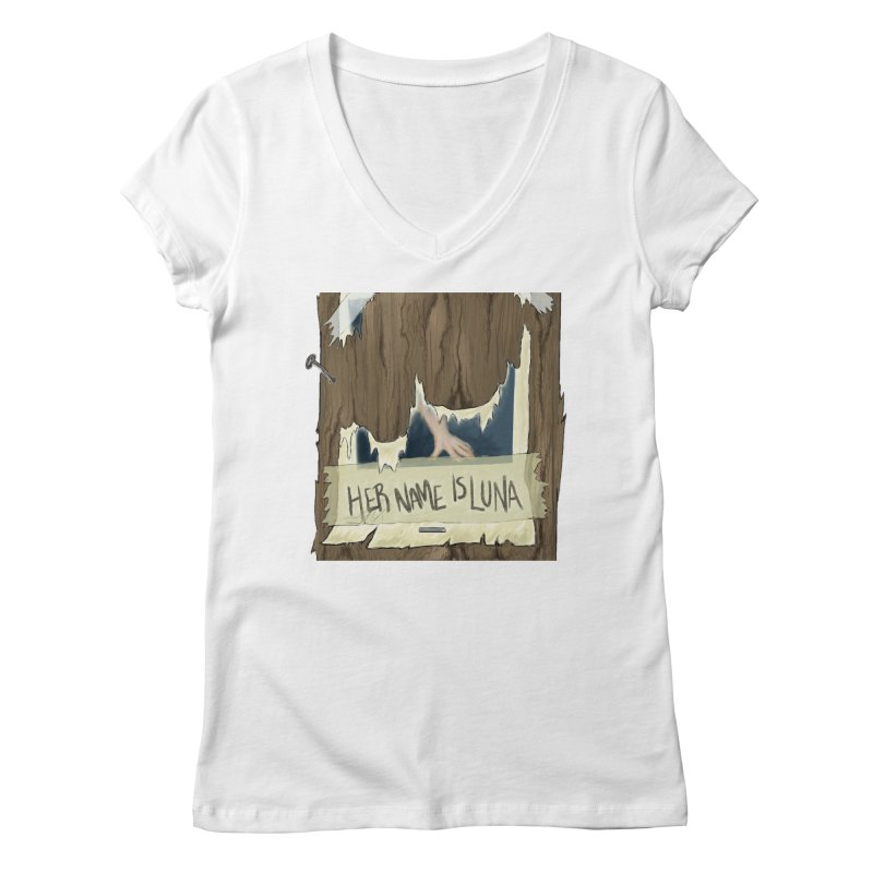 Her Name is Luna (Designed by The Unapologetic Artist) Women's Regular V-Neck by Augie's Attic