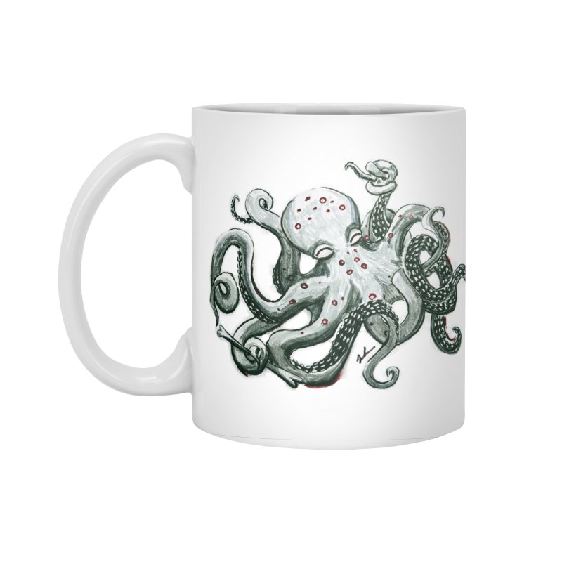 Deep Dive Octopus (Designed by Rogue Duck Studio) Accessories Standard Mug by Augie's Attic