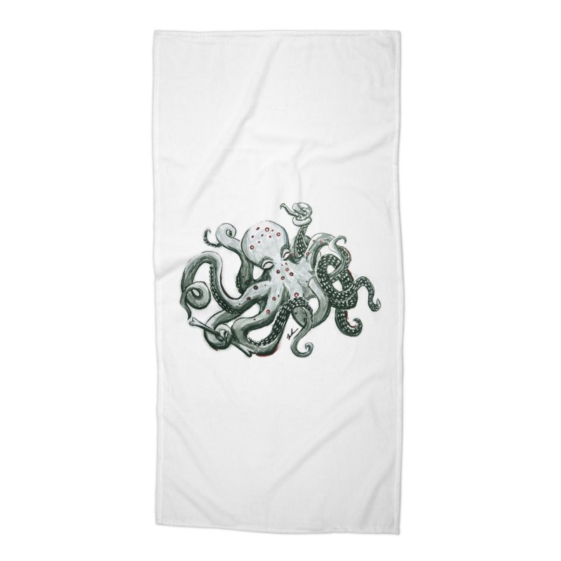 Deep Dive Octopus (Designed by Rogue Duck Studio) Accessories Beach Towel by Augie's Attic