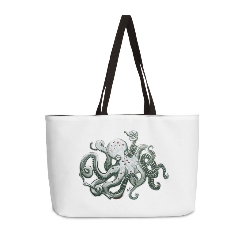 Deep Dive Octopus (Designed by Rogue Duck Studio) Accessories Weekender Bag Bag by Augie's Attic