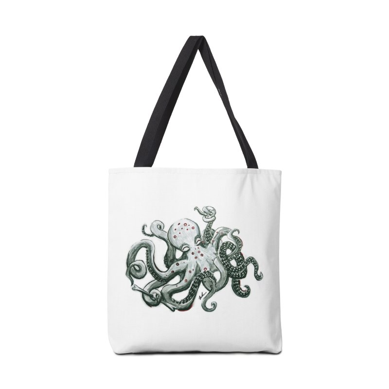Deep Dive Octopus (Designed by Rogue Duck Studio) Accessories Tote Bag Bag by Augie's Attic