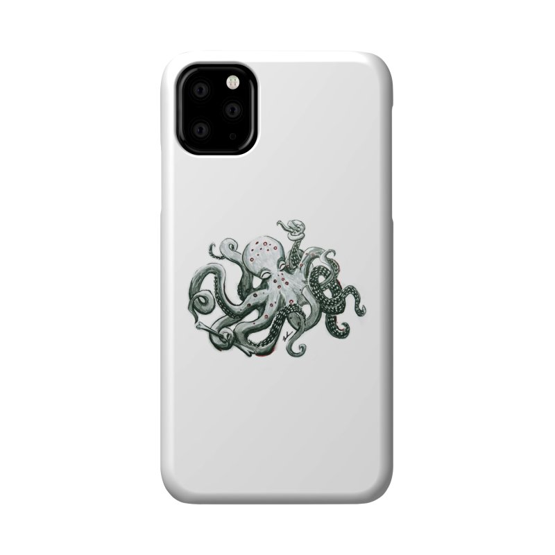 Deep Dive Octopus (Designed by Rogue Duck Studio) Accessories Phone Case by Augie's Attic