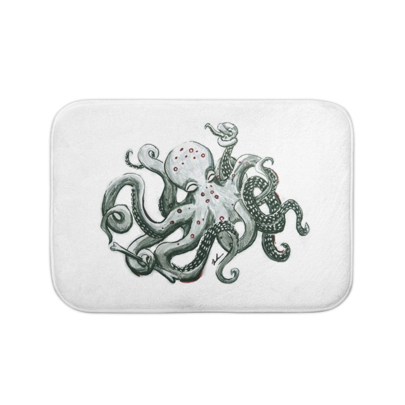 Deep Dive Octopus (Designed by Rogue Duck Studio) Home Bath Mat by Augie's Attic