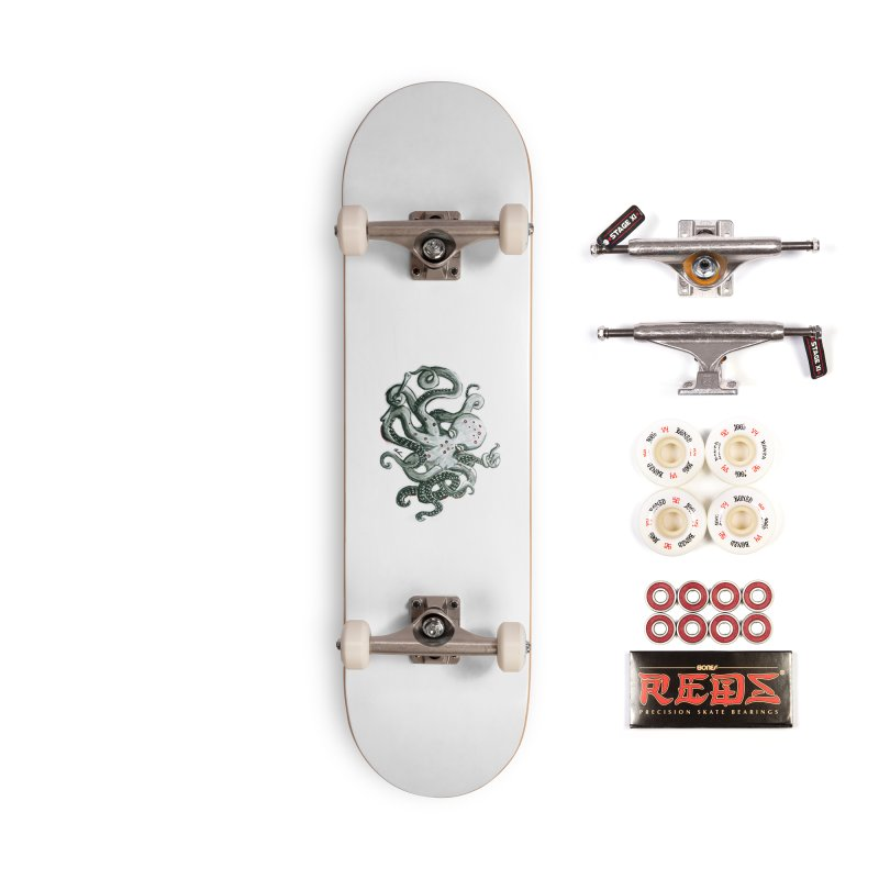 Deep Dive Octopus (Designed by Rogue Duck Studio) Accessories Complete - Pro Skateboard by Augie's Attic