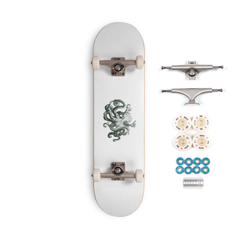 Deep Dive Octopus (Designed by Rogue Duck Studio) Accessories Complete - Premium Skateboard by Augie's Attic
