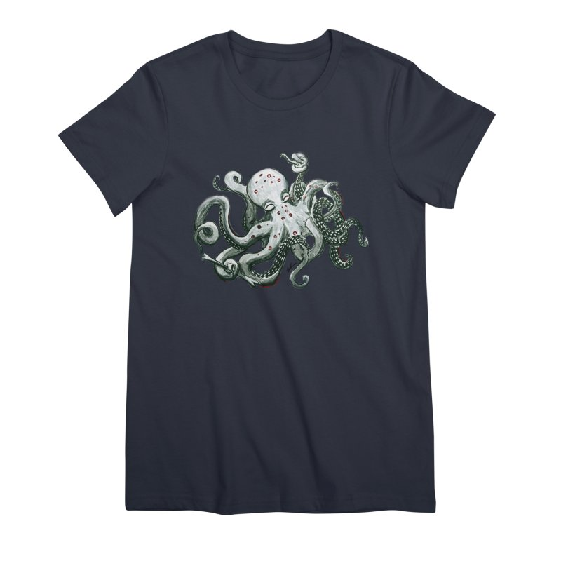 Deep Dive Octopus (Designed by Rogue Duck Studio) Women's Premium T-Shirt by Augie's Attic