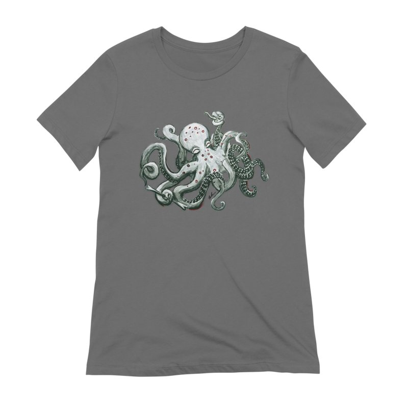 Deep Dive Octopus (Designed by Rogue Duck Studio) Women's Extra Soft T-Shirt by Augie's Attic