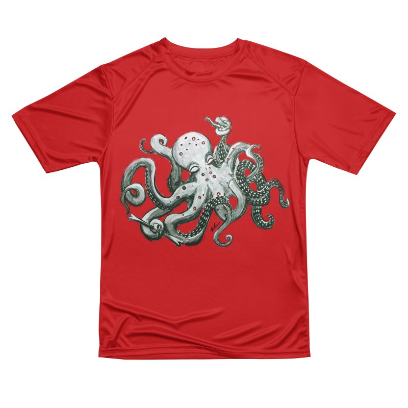 Deep Dive Octopus (Designed by Rogue Duck Studio) Women's Performance Unisex T-Shirt by Augie's Attic