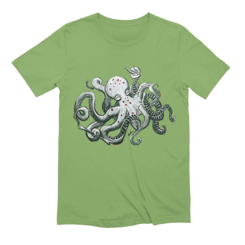 Deep Dive Octopus (Designed by Rogue Duck Studio) Men's Extra Soft T-Shirt by Augie's Attic