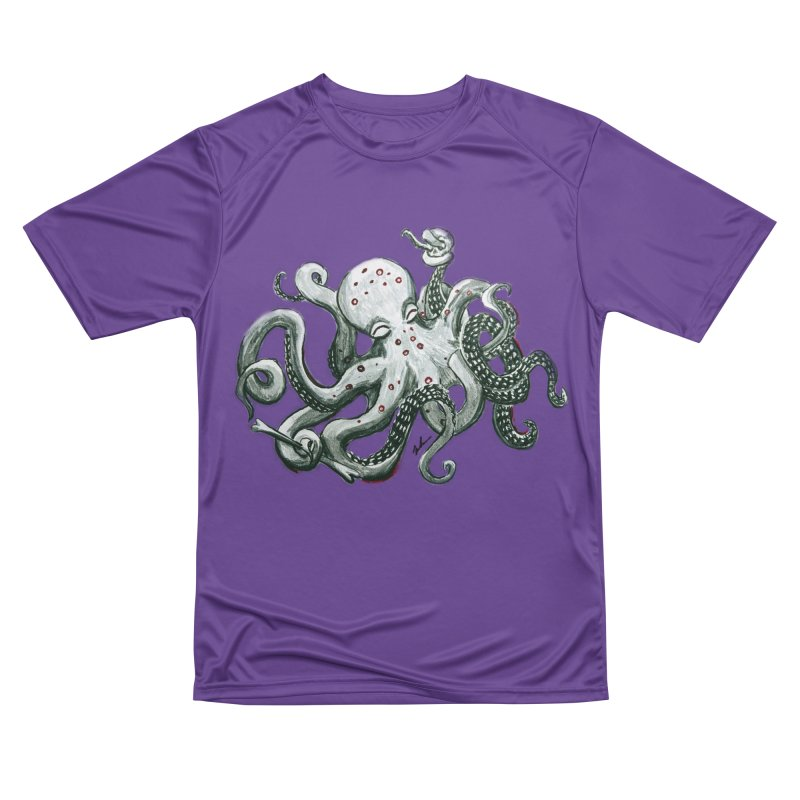 Deep Dive Octopus (Designed by Rogue Duck Studio) Women's Performance Unisex T-Shirt by Augie's Attic
