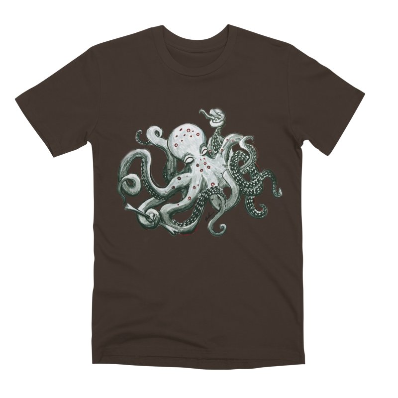 Deep Dive Octopus (Designed by Rogue Duck Studio) Men's Premium T-Shirt by Augie's Attic