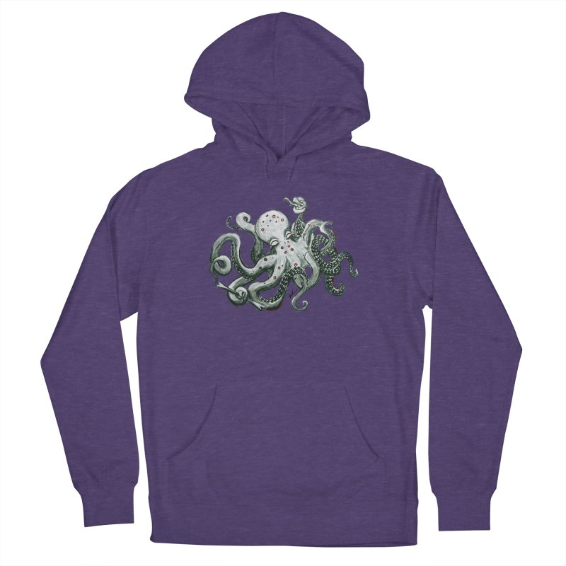 Deep Dive Octopus (Designed by Rogue Duck Studio) Men's French Terry Pullover Hoody by Augie's Attic