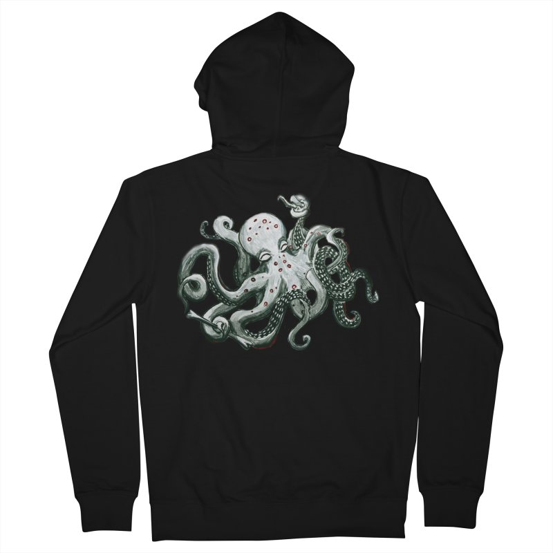 Deep Dive Octopus (Designed by Rogue Duck Studio) Women's French Terry Zip-Up Hoody by Augie's Attic