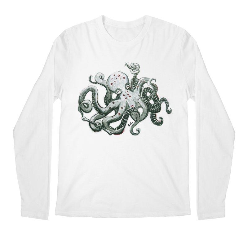 Deep Dive Octopus (Designed by Rogue Duck Studio) Men's Regular Longsleeve T-Shirt by Augie's Attic