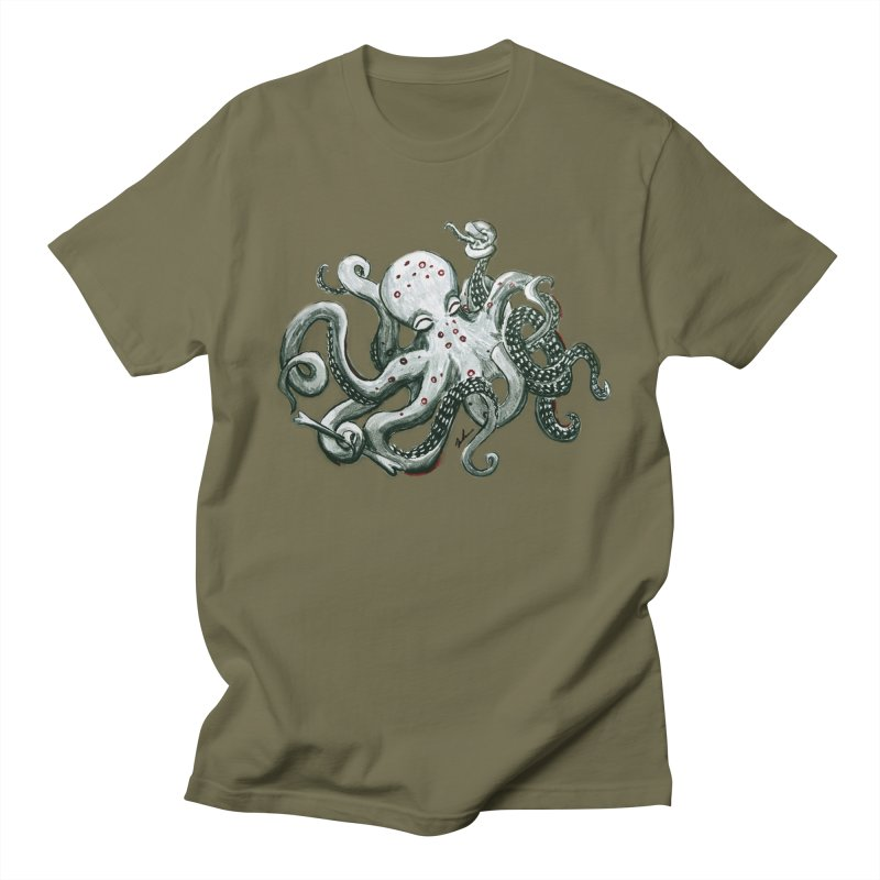 Deep Dive Octopus (Designed by Rogue Duck Studio) Women's Regular Unisex T-Shirt by Augie's Attic