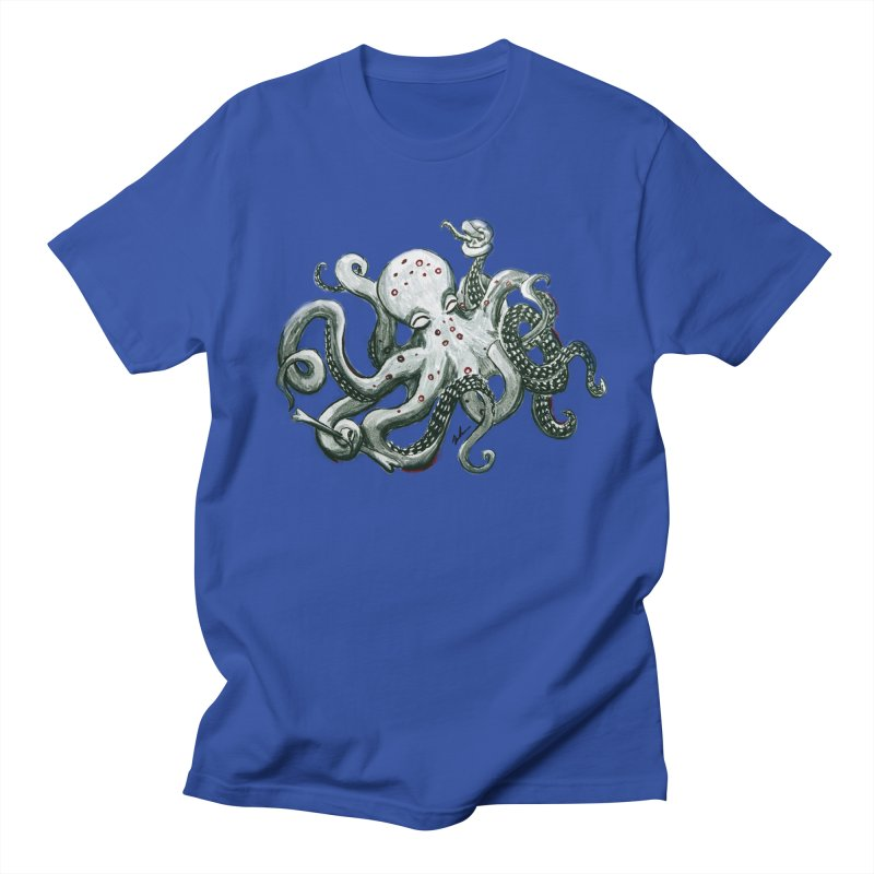 Deep Dive Octopus (Designed by Rogue Duck Studio) Men's Regular T-Shirt by Augie's Attic